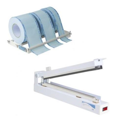seladora manual agir plus kit papel grau cirúrgico 31-cm