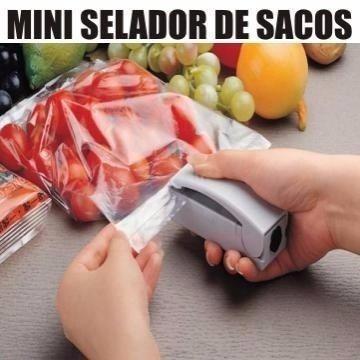 seladora sacos plásticos portátil sacola a pilha modelo mini