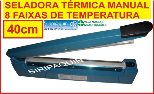 seladora termica para plasticos 40cm 8 temperaturas - 220v
