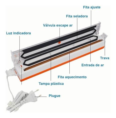 seladora vácuo tinton life embaladora alimentos 30cm + saco