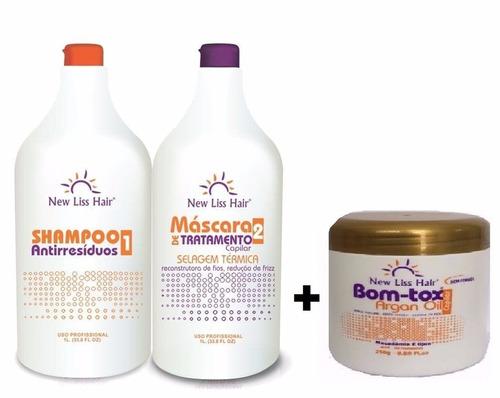 selagem new liss hair+btox 250g s/formol  a melhor