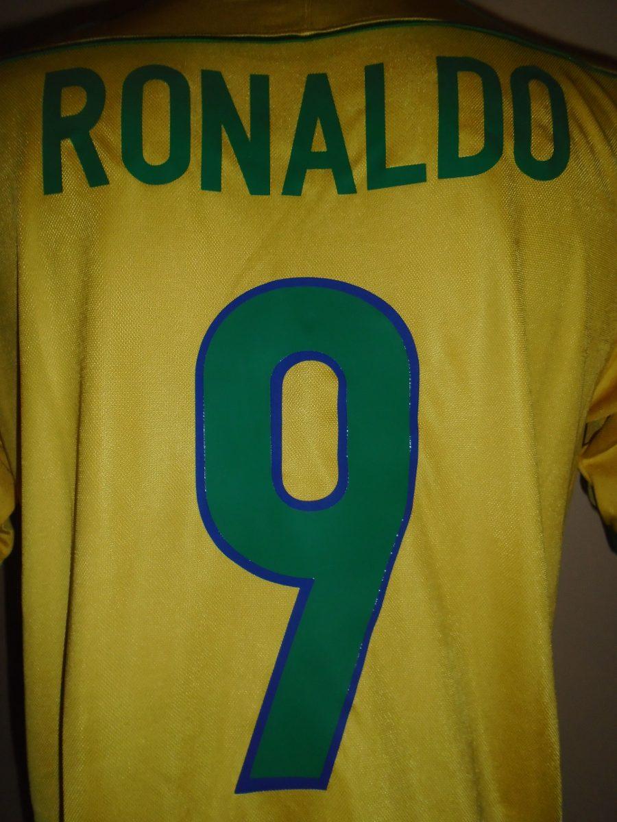 3d1dbde3d Cargando zoom... camiseta selección brasil mundial francia 1998 ronaldo  9 m