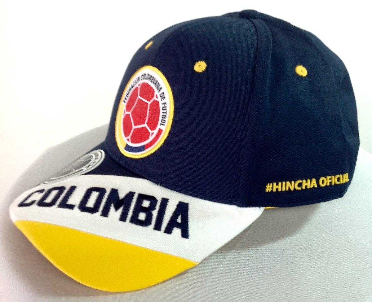 selección colombia de fútbol gorras azules licenciada fcf. Cargando zoom. 1b720fb6570