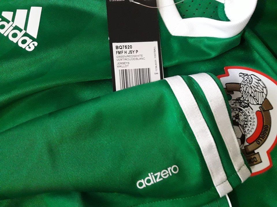 a01da1b1b0cca Cargando zoom... 2 jersey seleccion mexico verde local adizero 2015 16 17