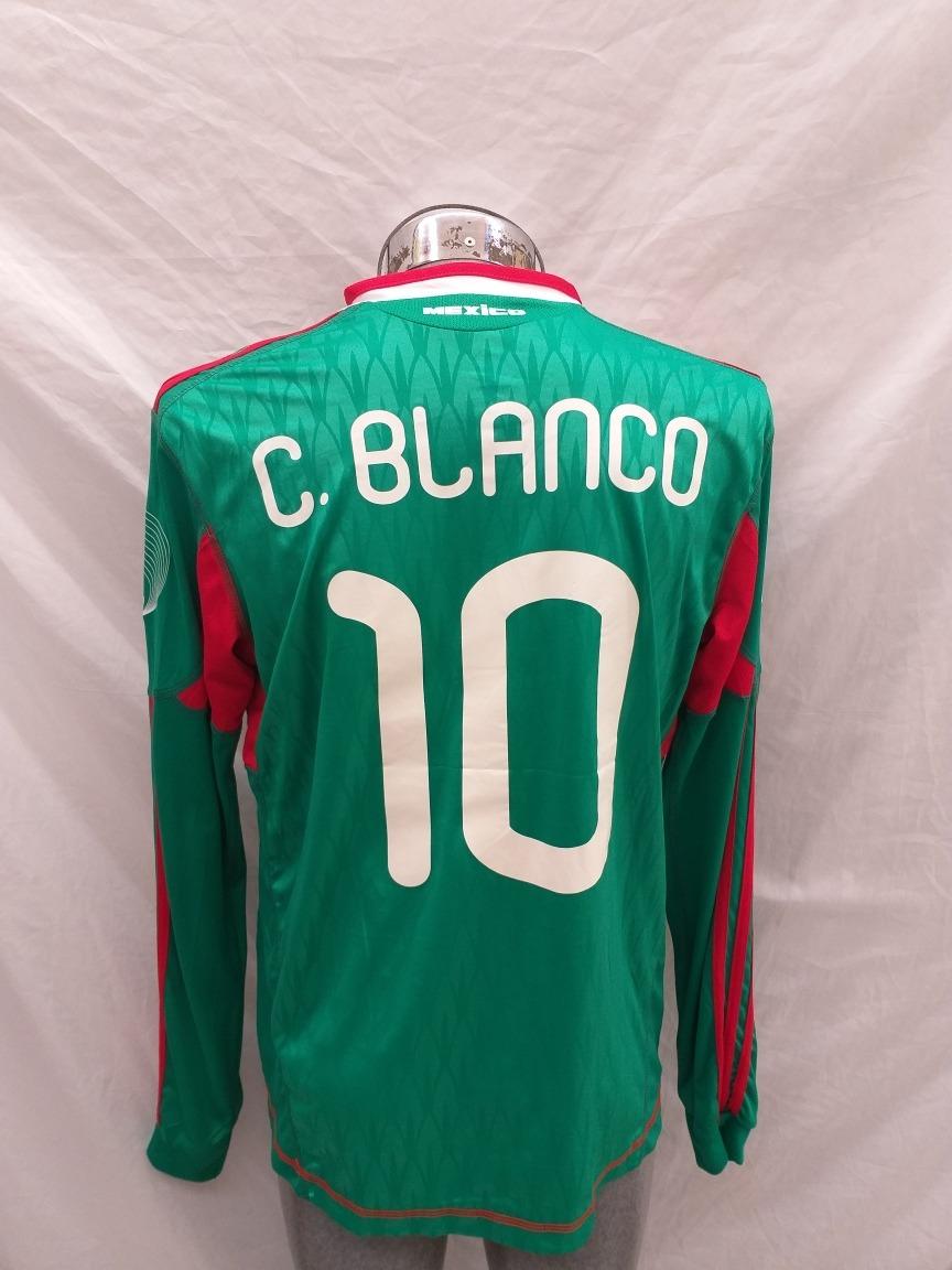 d93337cfc8566 Jersey Selección México 2010 Manga Larga Cuauhtémoc Blanco ...