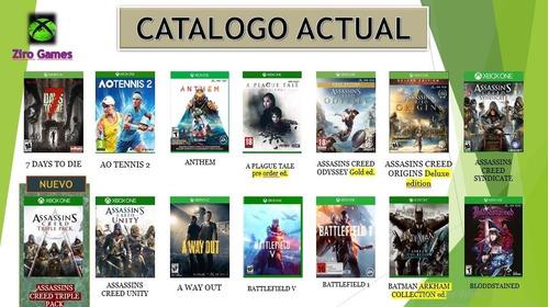 selecciona 3 juegos xbox one