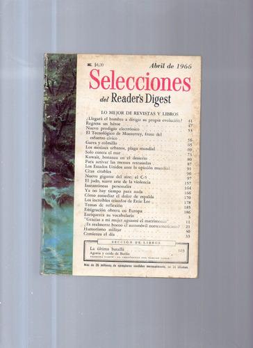selecciones del reader's digest abril de 1966