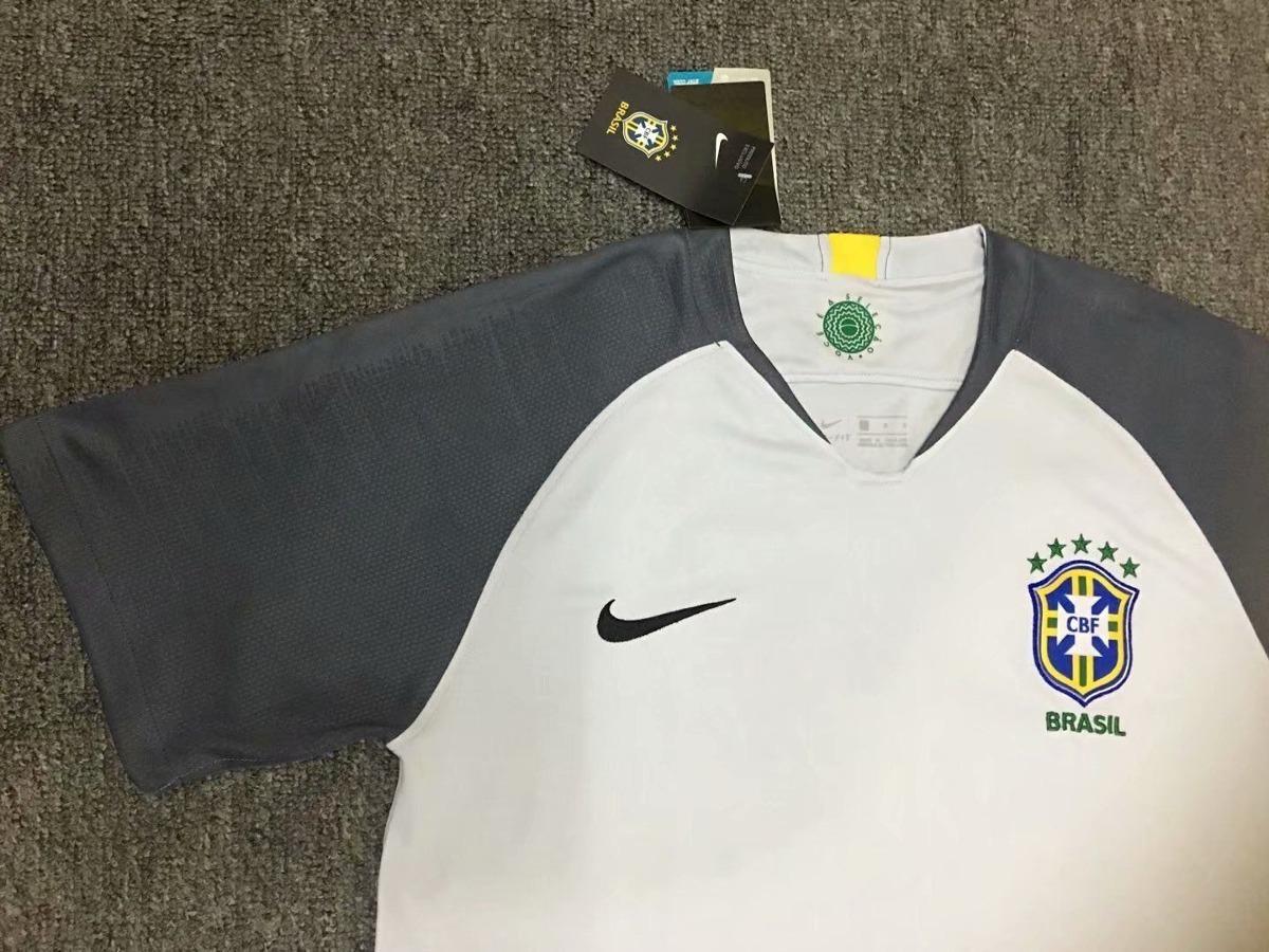 2dc670a964 Carregando zoom... 2 camisa cinza seleção do brasil goleiro 2018 adulto