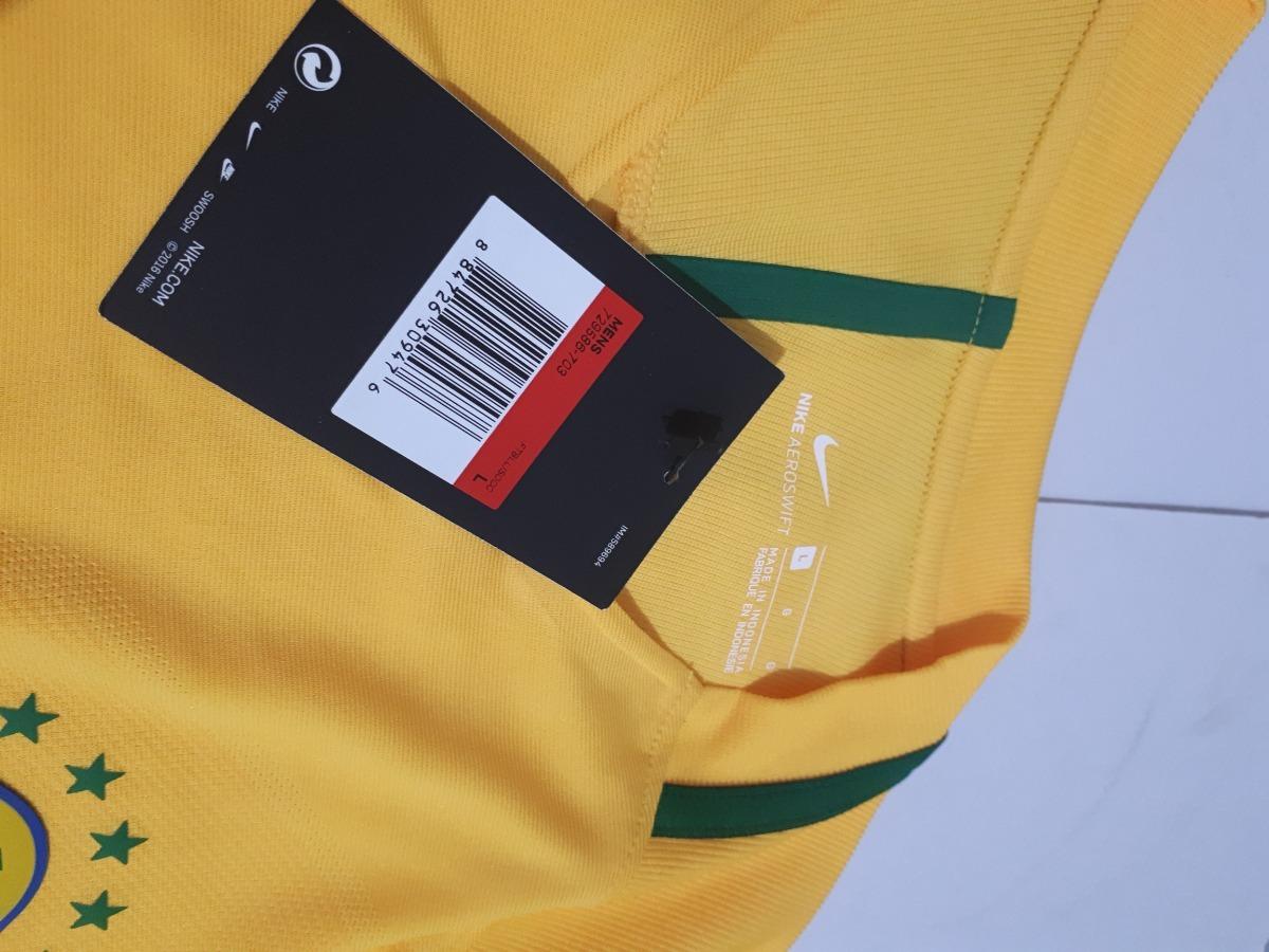 Carregando zoom... 2 camisa seleção brasileira brasil 2016 home nike  aeroswift 4221a6a23b080