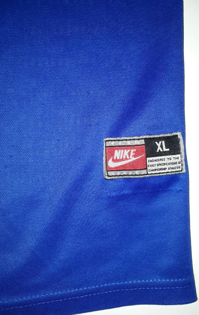 6e65a5ac63 Carregando zoom... 2 camisa seleção brasil azul copa frança 1998 orig nike  - 36