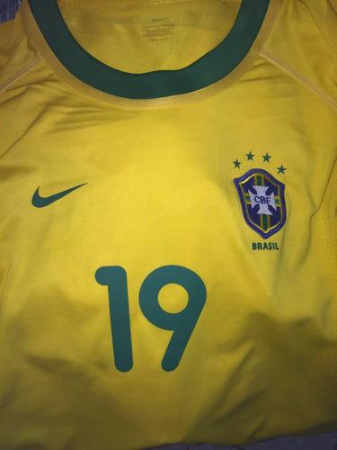 seleção brasileira 2001 #19 juninho paulista ml nike unif.1