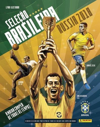 seleção brasileira album + 70 pacotes com 280 figurinhas