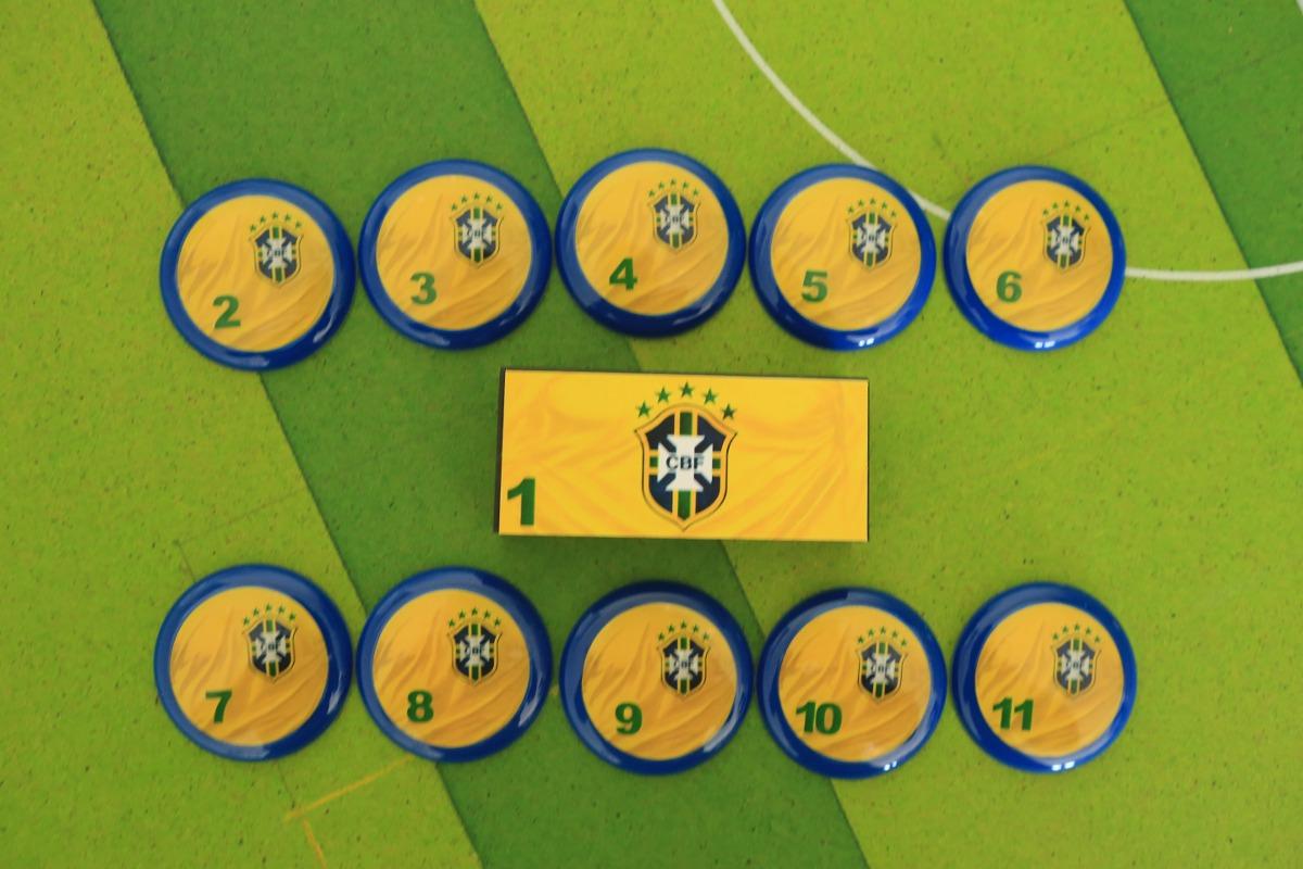 Seleção Brasileira - Brasil Futebol De Botão Retrô - R  49 a3dfcca81f269