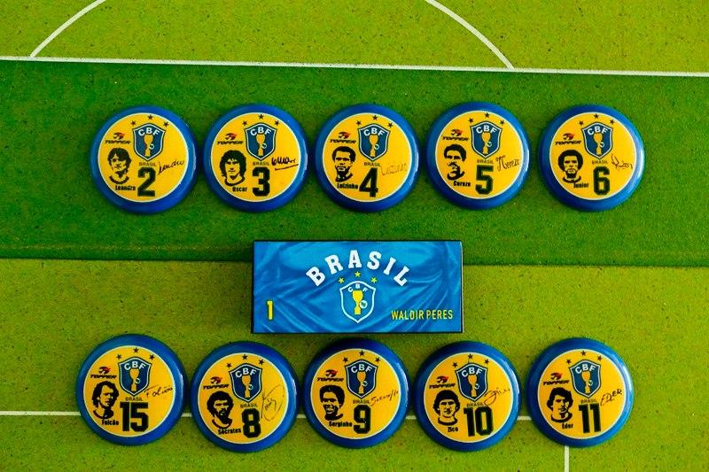 51f53329b7 Seleção Brasileira De 1982 - Brasil Futebol De Botão - R  49