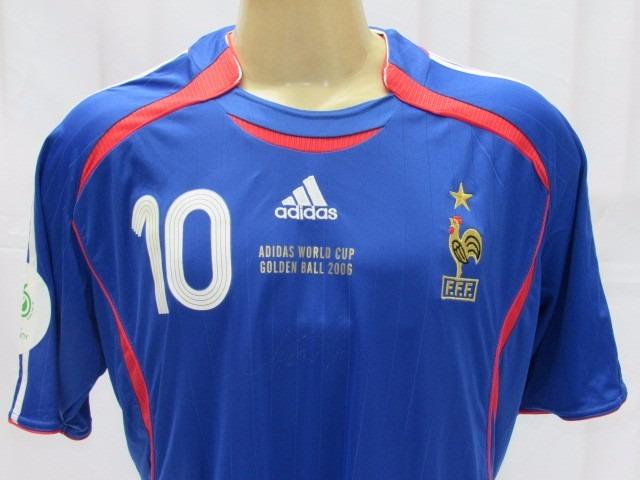 3326f42b98 Camisa De Futebol Da Seleção Da França - adidas  10 Zidane - R  239 ...