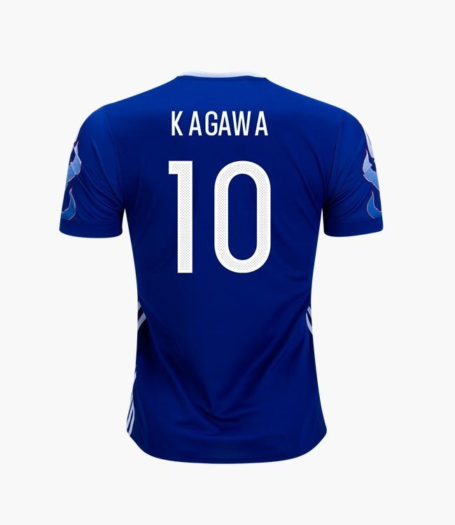 seleção japão camisa · camisa seleção japão azul  10 kagawa 2017 2018 96e71f39c2a91