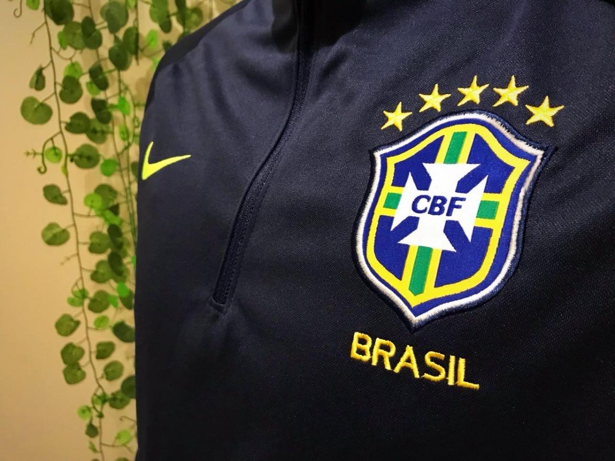 ab55572bfb Carregando zoom... conjunto agasalho seleção brasil calça e blusa adulto  nike