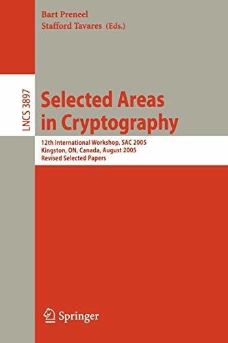 selected areas in cryptography : bart preneel