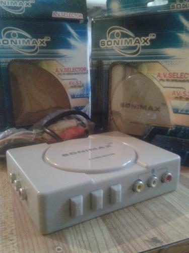 selector de video rca marca sonimax 3en 1 play 2 dvd xbox