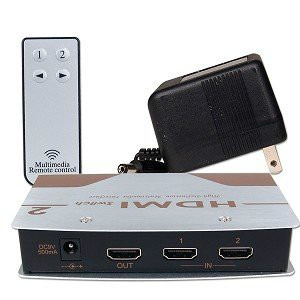 selector split hdmi switch para 2 equipos incrementa el hdmi