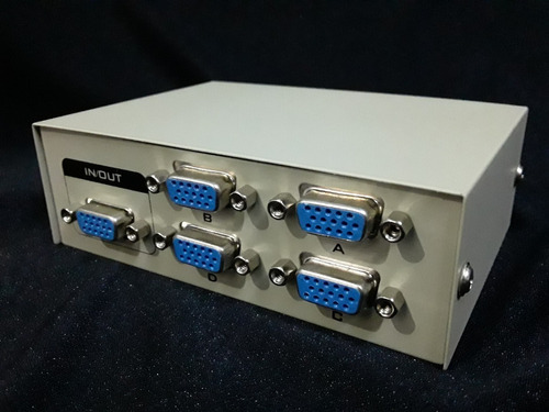 selector splitter switch vga 1 entrada 4 salidas