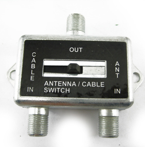selector switch antena 2en1 llave corredera tv cable coaxil