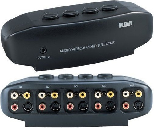 selector switch video rca s-video 4 en 1 tv audio
