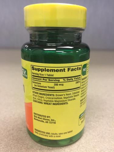 selenio 200mcg, 100 pastillas, americano, spring valley