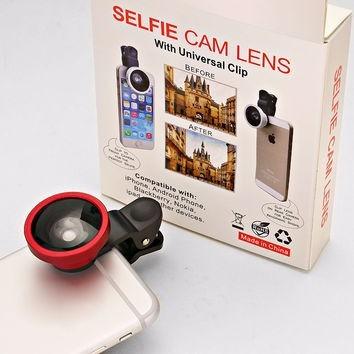 selfie cam lens color negro lente para celular