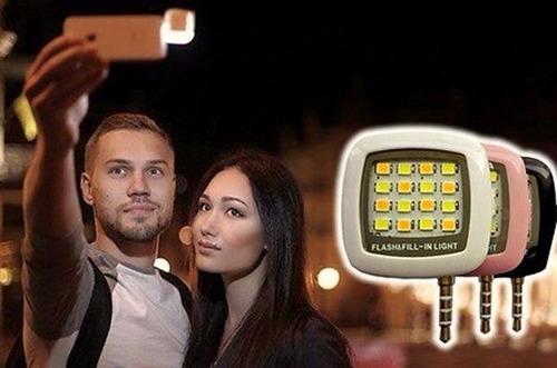 selfie flash recargable universal para todos los celulares