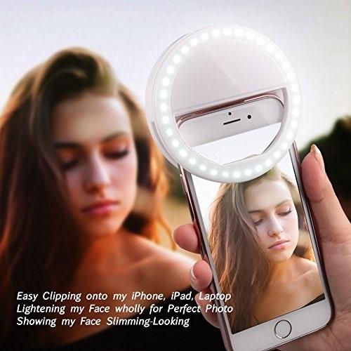 selfie flash universal para celulares - anillo makeup flash