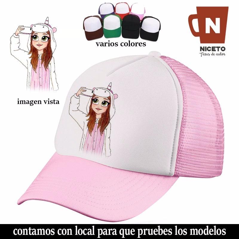 selfie niña unicornio gorra trucker unica diseño niceto. Cargando zoom. 3474d3f3e5e