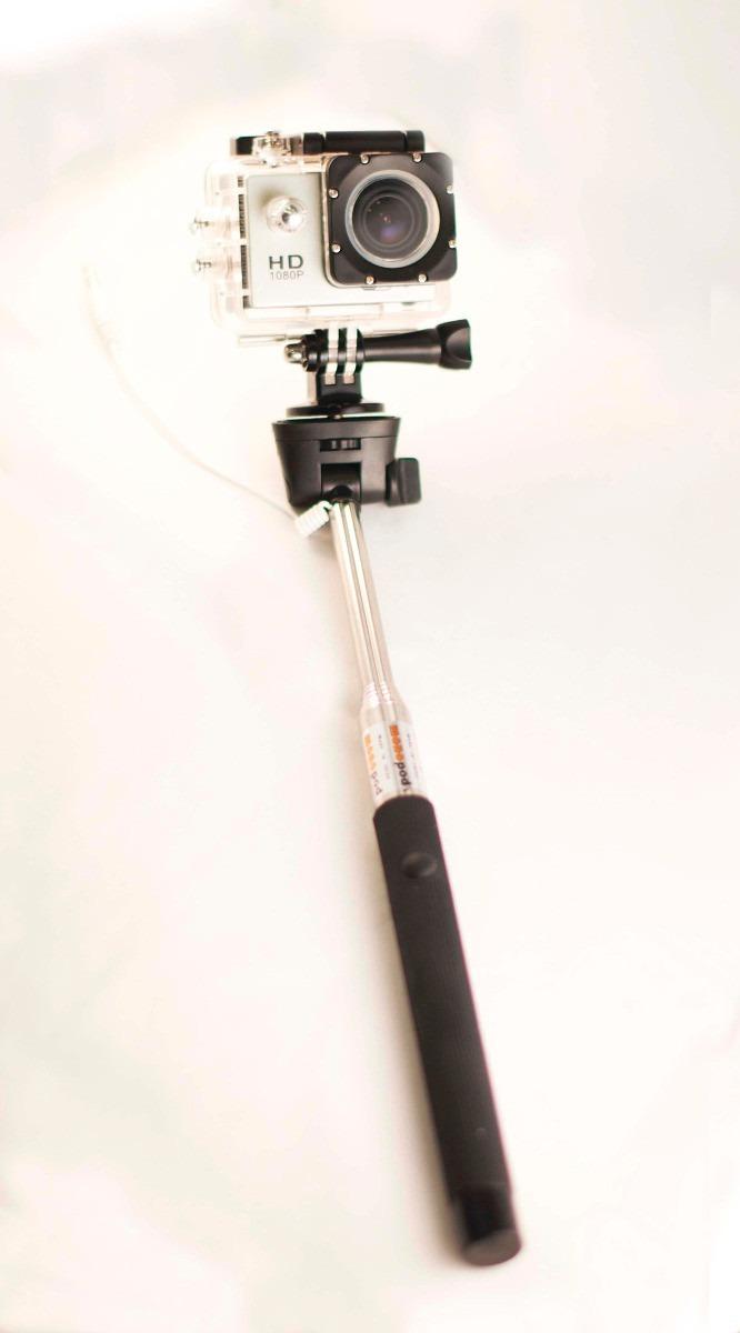 selfie stick baston para celulares iphone android go pro en mercado libre. Black Bedroom Furniture Sets. Home Design Ideas