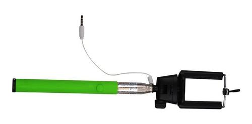 selfie stick con boton y cable toma foto