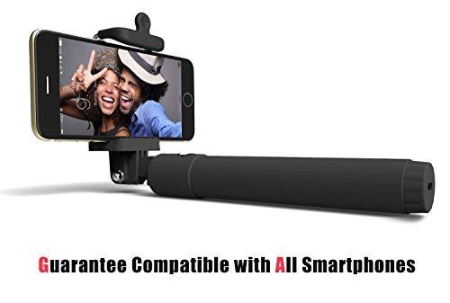 selfie stick, perfectday plegable extensible bluetooth self