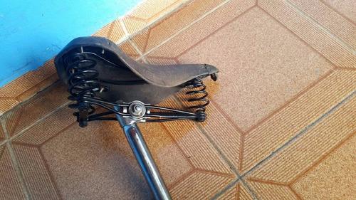 selim de couro anos 40/50 inglês brooks c/ emblema perfeito