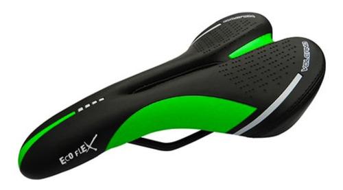 selim eco flex volcano vazado calypso 145mm bike mtb verde