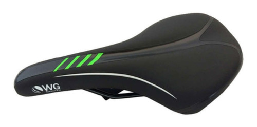 selim mtb wg sports pto/vrd banco bike bicicleta confortável