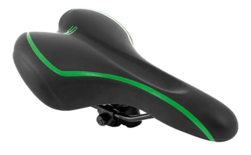 selim premium royal ciclo 170mm x 280mm bike mtb pto/verde
