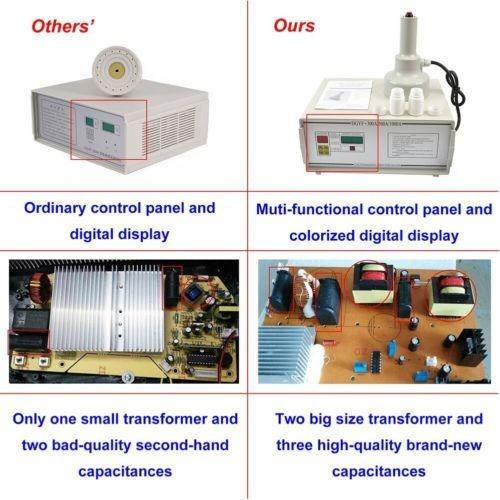 sellado máquina botella portátil inducción electromagnética