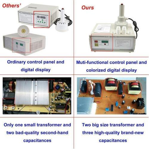 sellado máquina portátil inducción electromagnética botella