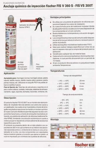 sellador anclaje quimico de inyeccion fis vs 300 fischer x 1