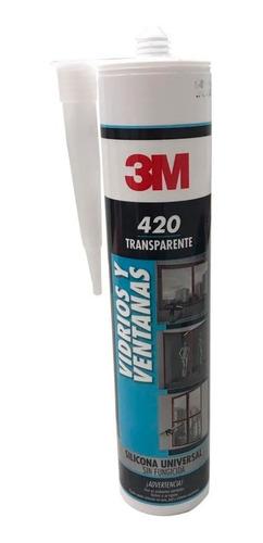 sellador de silicona acético 3m 420 280 ml x unidad
