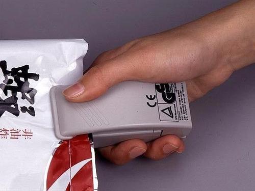 sellador manual para bolsas de plástico.