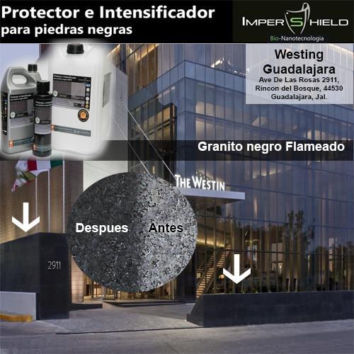 Sellador negro recinto granito slate marmol cantera for Piedra granito negro