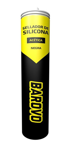 sellador silicona acética uso general negra 280ml barovo