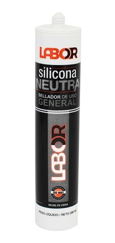 sellador silicona neutra blanca 280 ml lab01211 mm