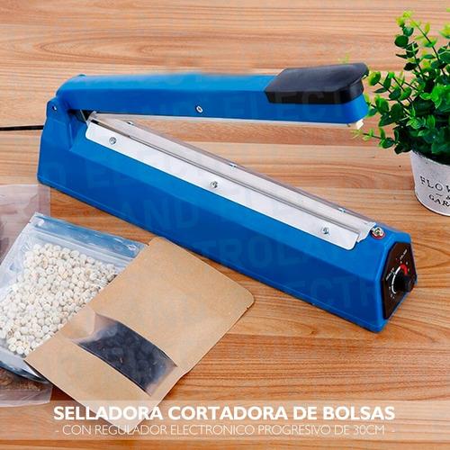 selladora cortadora bolsa 30cm regulador alta potencia reg