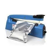 selladora de bolsas. manual. plásticas, metálicas. panadería