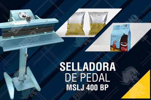 selladora de fundas bolsas plásticas industrial a pedal